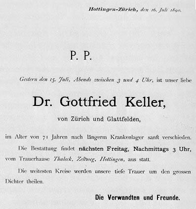 Kalender Uzh Gottfried Keller
